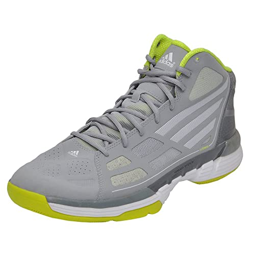 new arrival 8f402 36b5a Adidas Mens Adizero Ghost Grey, Runwhite and Electric Green Basketball  Shoes - 13 UK