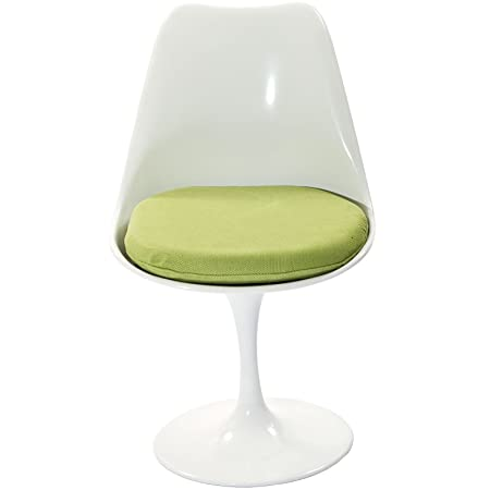 Modway Lippa Dining Fabric Side Chair in Green