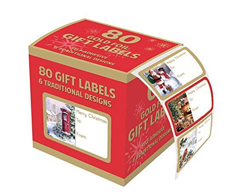 Tallon Christmas Collection-Gold Foil'etichetta adesiva, confezione da 100 pezzi Tallon International Ltd 4335