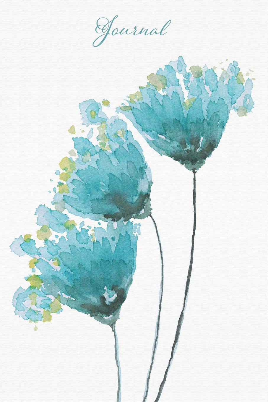 Amazon Com Journal Blue Watercolor Flowers Lined Journal