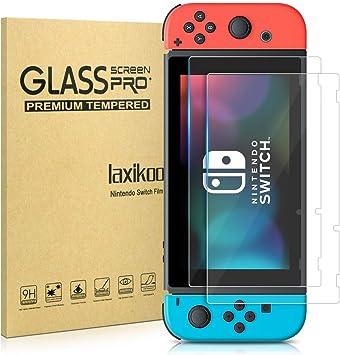 laxikoo 2 Piezas Protector de Pantalla para Nintendo Switch, 9H Dureza Cristal Templado [Fácil Instalación] [Sin Burbujas] [Anti-Arañazos] [Alta Definicion] HD Vidrio Templado para Nintendo Switch: Amazon.es: Videojuegos