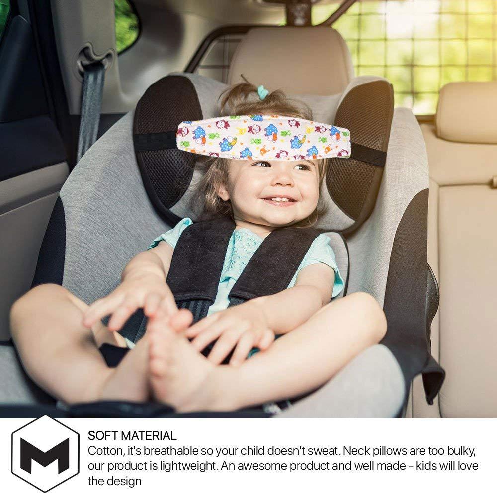 Abrazador de cabeza para asiento infantil para ni/ños de todas las edades y beb/és alivio para el cuello en el asiento del coche llavero de unicornio Soporte para la cabeza del asiento infantil 2x