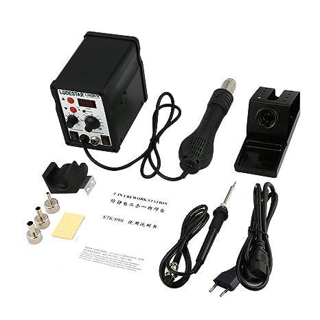 LODESTAR 2in1 Pantalla digital Estación de retrabajo de aire caliente SMD y herramienta de desoldar pistola