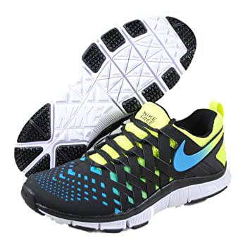 new product 78c3d 600f2 NIKE Free Trainer 5.0 V4 Mens Fitness Trainers, Black neon Yellow