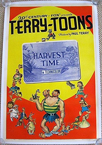 HARVEST TIME '40 LB 1 SH POSTER PAUL TERRY'S TERRY-TOONS ANIMATED ART