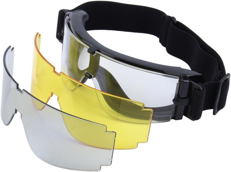 X800Táctico Gafas Protectoras Gafas con 3Lentes Intercambiables Deportes al Aire Libre protección de los Ojos Gafas de Motocicleta para Motocicleta Ciclismo Airsoft Paintball Juego Caza