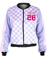 Fashion Women Bomber Jacket Whatever Forever Printing Slim Chaquetas Mujer Fitness Basic Jacket for Woman