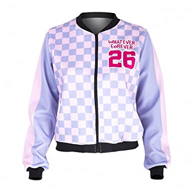 Fashion Women Bomber Jacket Whatever Forever Printing Slim Chaquetas Mujer Fitness Basic Jacket for Woman jka42363