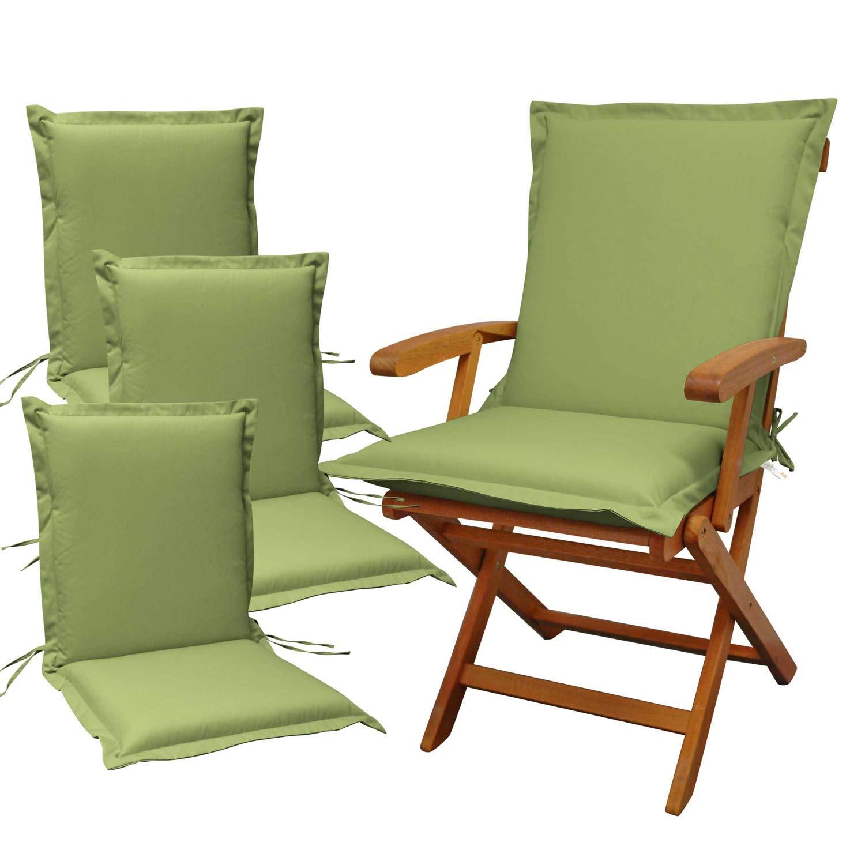 Indoba 4 x Sitzauflage Niederlehner Premium Polsterauflagen Grün