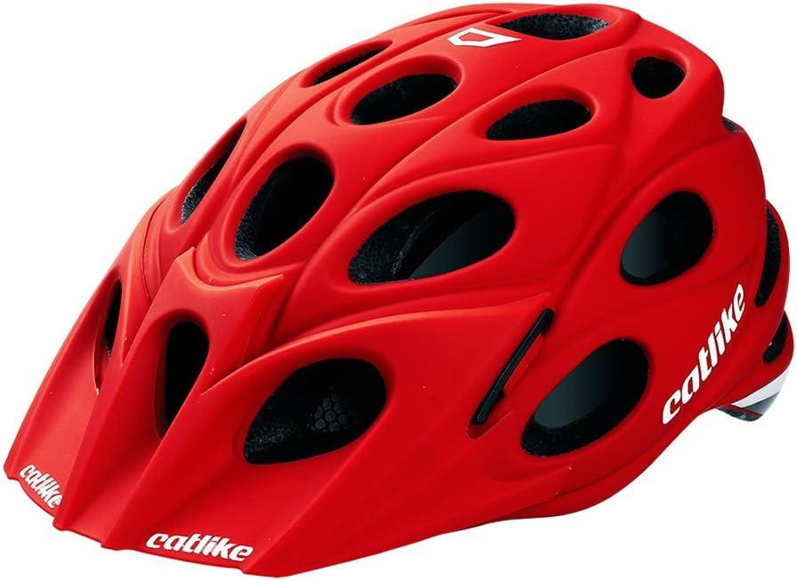 Catlike Leaf - Casco de ciclismo, color rojo mate, talla LG (58-60 ...