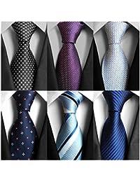Classic Men's Neckties 6&9 PCS Woven Jacquard Neck Ties
