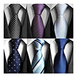 AVANTMEN 6 PCS Classic Men's Neckties Woven Jacquard Neck Ties Set (S10)