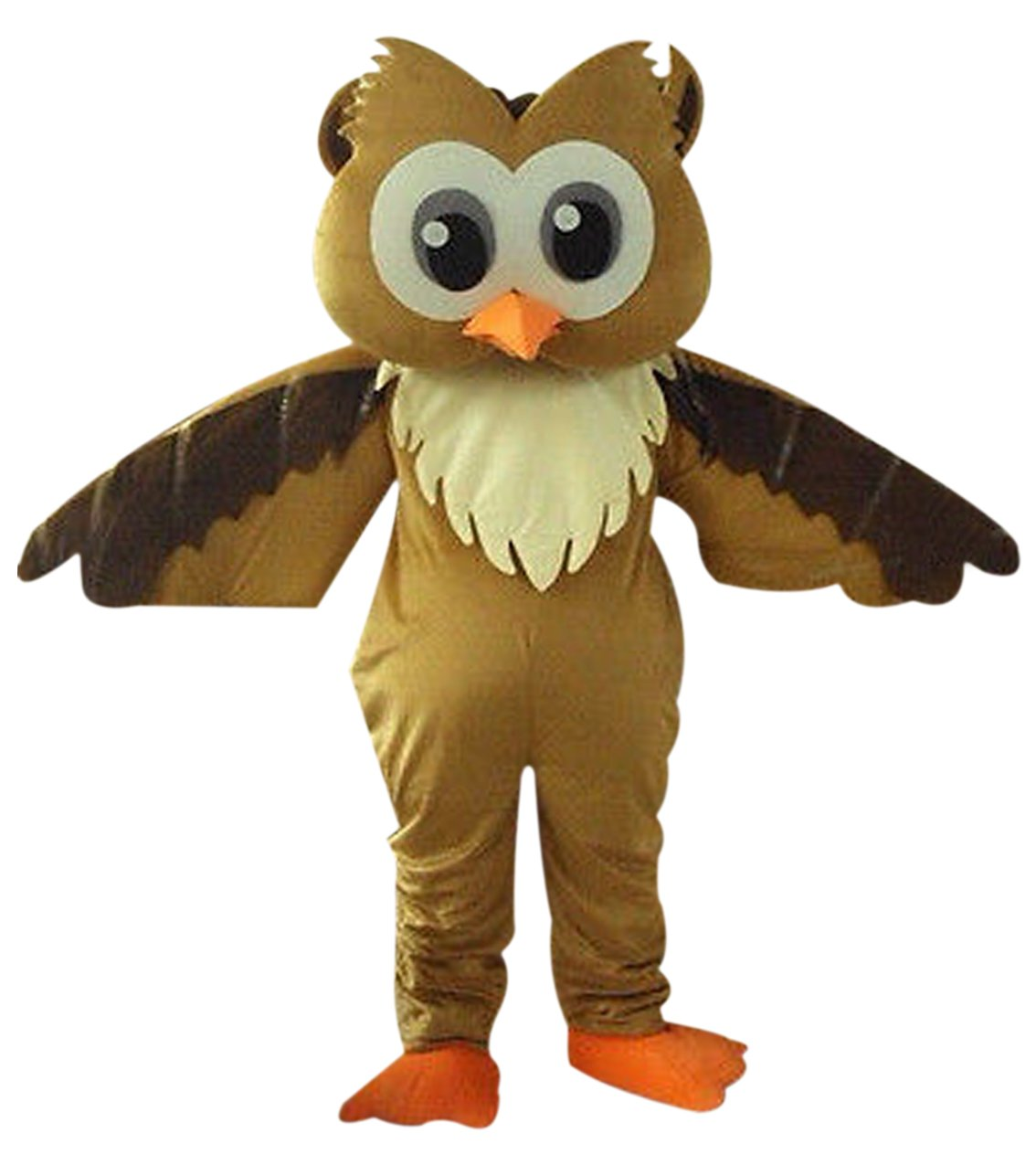 Brown Owl Mascot Costume Cartoon Character Adult Sz Langteng