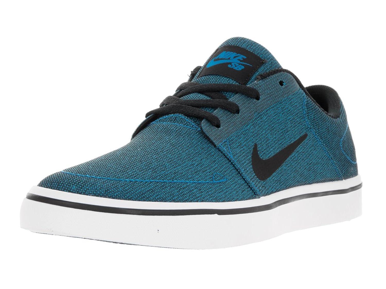 Nike Men's SB Portmore Cnvs Skate Shoe Photo Blue/Black White