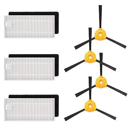 Comtervi Filtro Robot Aspirador Filtro/Juego De Cepillos de Repuesto, Robot vacío Kit de