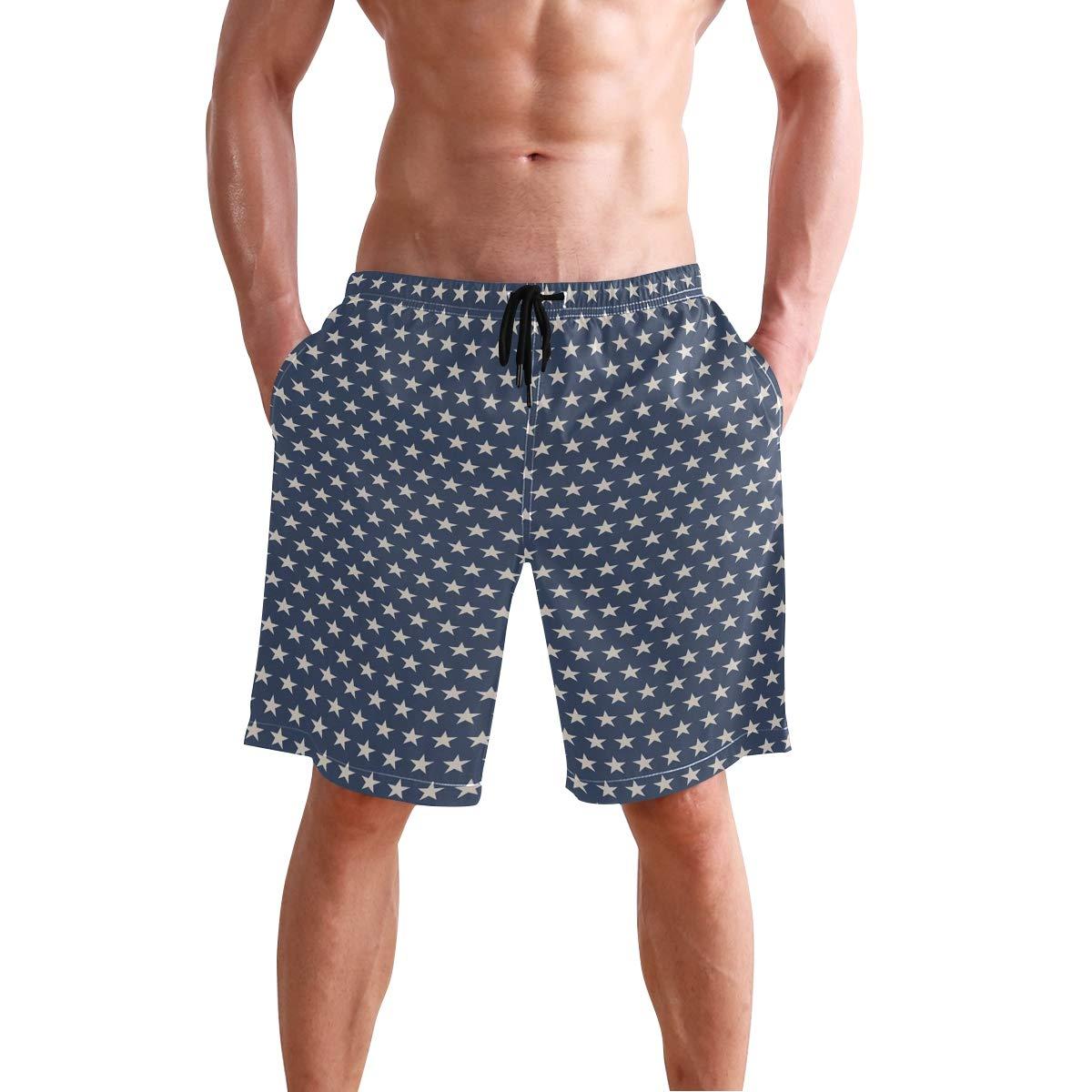 COVASA Mens Summer ShortsPatchwork Style