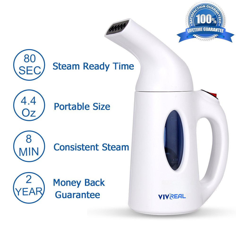 Clothes Steamer – Portable clothes steamer with 3.4OZ, Fast-heat hand held steamer travel steamer for soft fabric, compact garment steamer for ease of use, Fabric steamer for Travel Home 100 Safety
