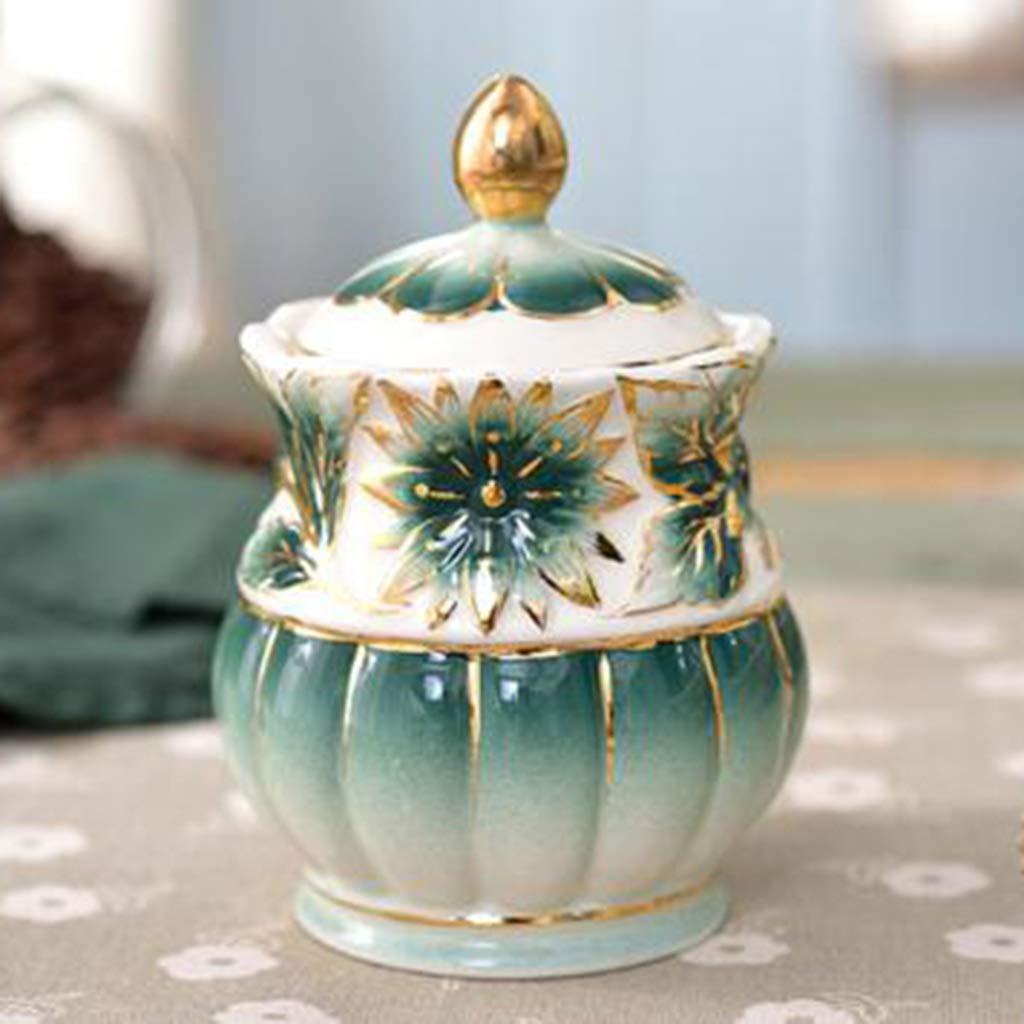 CSQ Coffee Cup Afternoon Tea Set, Ceramic Coffee Pot Household Eight-Piece Tea Set Scented Tea Teapot Capacity: 1050ml Afternoon Tea (Color : Green) by Tea set-CSQ (Image #7)