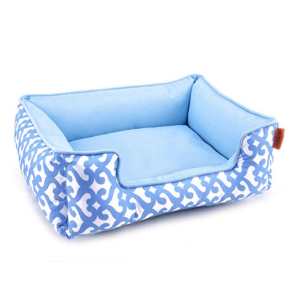 bluee Small bluee Small Shenzuyang Cat Bed Pet Bed Pet Supplies Series 100% Comfortable Soft Fabric (color   bluee, Size   S)