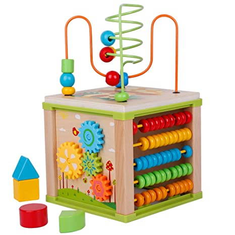 Amazoncom Lifefun Toddler Activity Cube 5 In 1 Play Cube
