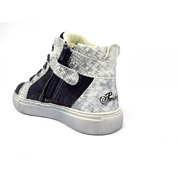 Primigi 82722 Sneakers Mid Invernale Bambina Laminato Blu /grey NykRyM