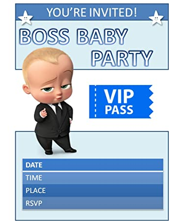 Boss Baby Theme Party Invitation Cards Pack Of 10 For Boss