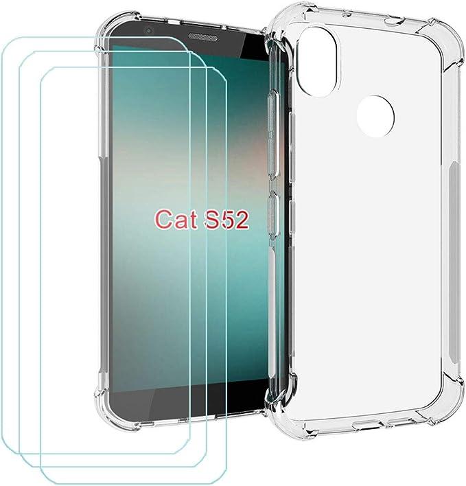 Dqg Tempered Glass Case For Cat S52 Transparent Elektronik