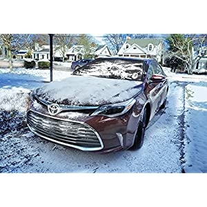Delk Polarshield Winter Snow Car Wind Proof Windshield Cover with Security Panels XL