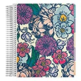 Erin Condren 18-Month July 2019 - Dec 2020 Coiled LifePlanner - Floral Ink, Horizontal (Colorful Layout)