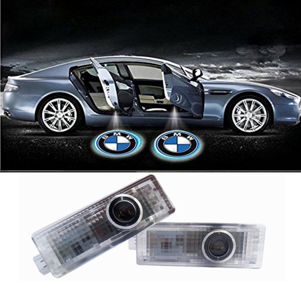 Inlink 2 Pi/èce Auto Logo Porte Lumi/ères Projecteur Porte De Voiture Lumi/ère 3D Logo