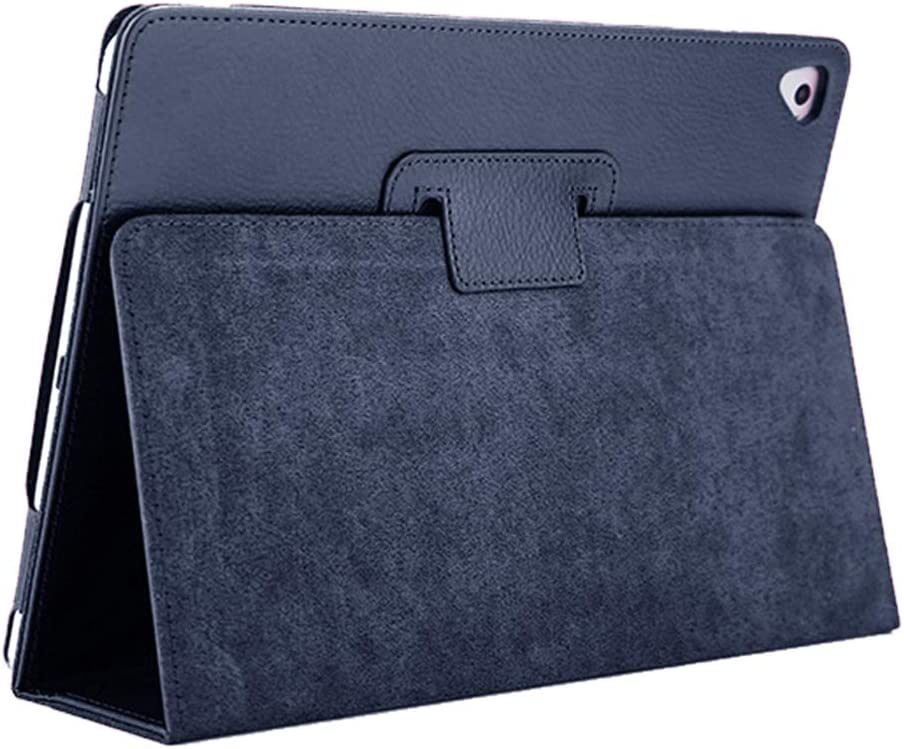 """iPad Air 2 Case,2018/2017 9.7 iPad/Cover,FANSONG Bifold Series Litchi Stria Slim Thin Magnetic PU Leather Smart Cover [Flip Stand,Sleep Function] Universal for Apple iPad Air/Air 2/Pro(9.7""""), Navy"""