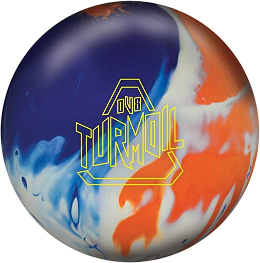 DV8 Turmoil Solid Bowling Ball Turmoil Solid Bowling Ball, Blue White Orange, 15 lb