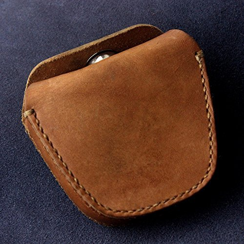 1970's Chinese Army Geninue Leather Pellets Ammo Storage Bag Pouch for Hunting Magnetic Close