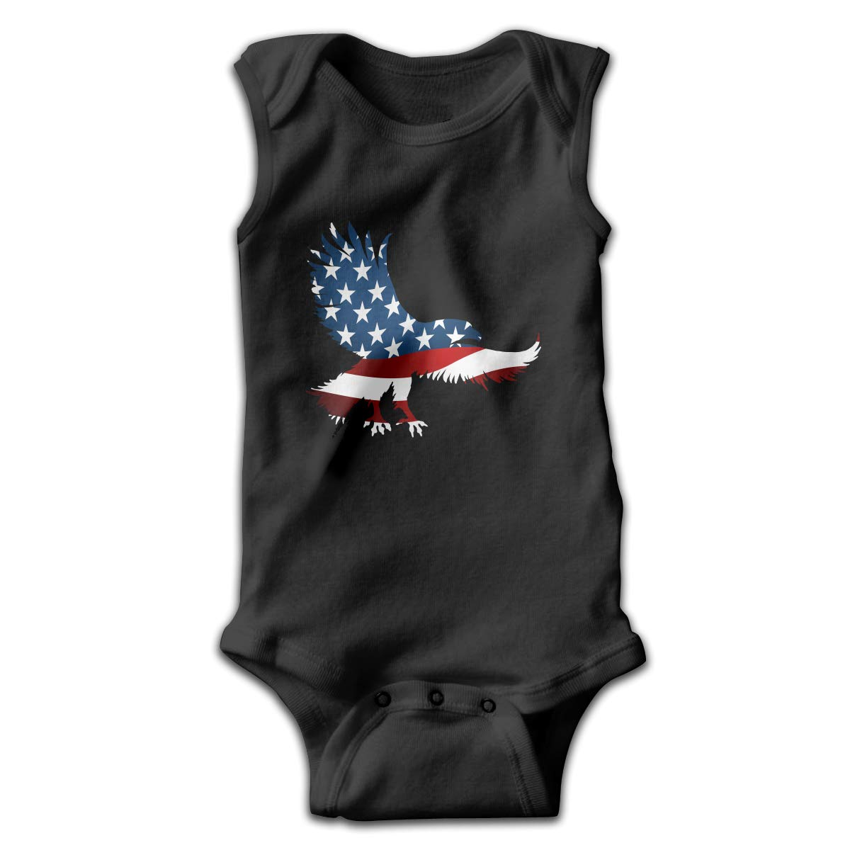 Infant Baby Girls Rompers Sleeveless Cotton Jumpsuit,American Eagle Flag Bodysuit Summer Pajamas
