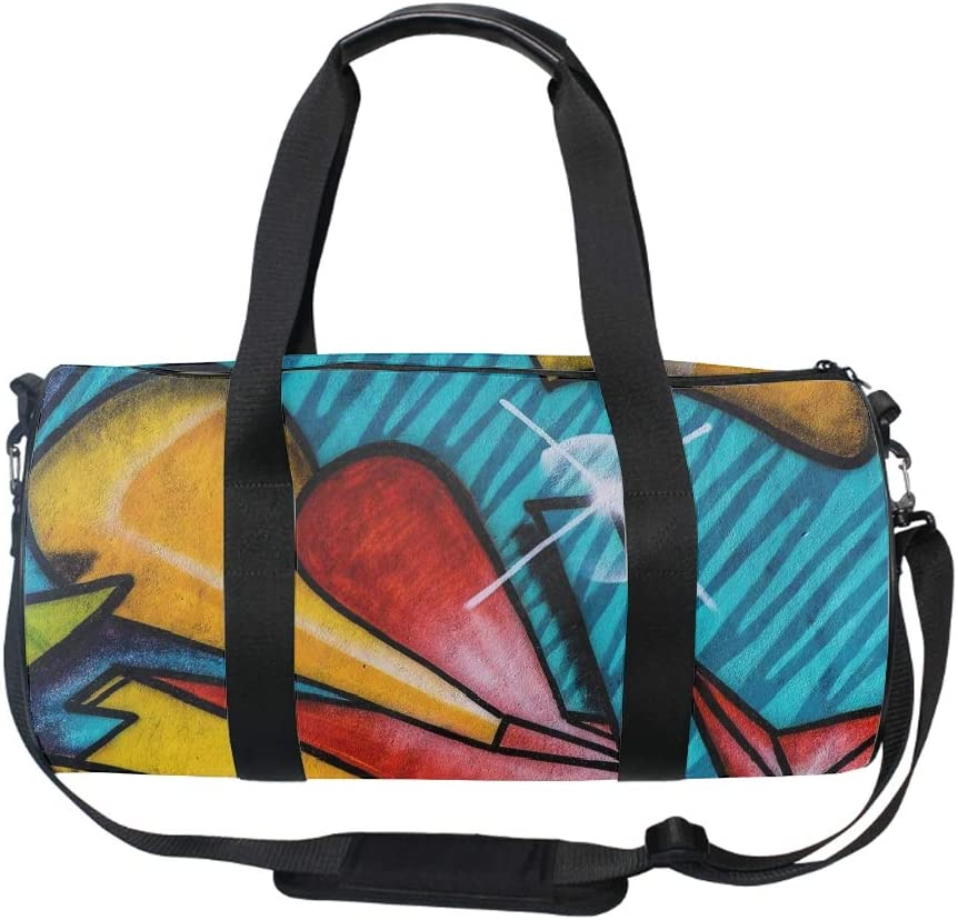 Zippered Compartments Pine Trees Duffel Style Carry On Sports Travel Bag with Shoulder Strap