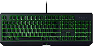 Razer BlackWidow Essential Mechanical Gaming Keyboard: Green Mechanical Switches - Tactile & Clicky - Individual Key Green LED backlighting - 10 Key Anti-Ghosting - Programmable Macro Functionality