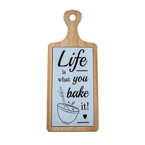 Scrafts Wooden wooden Life Bake decorative wall hanging for home use/kitchen use/restaurant use/hotel useLBH(inches)=6X0.4X15