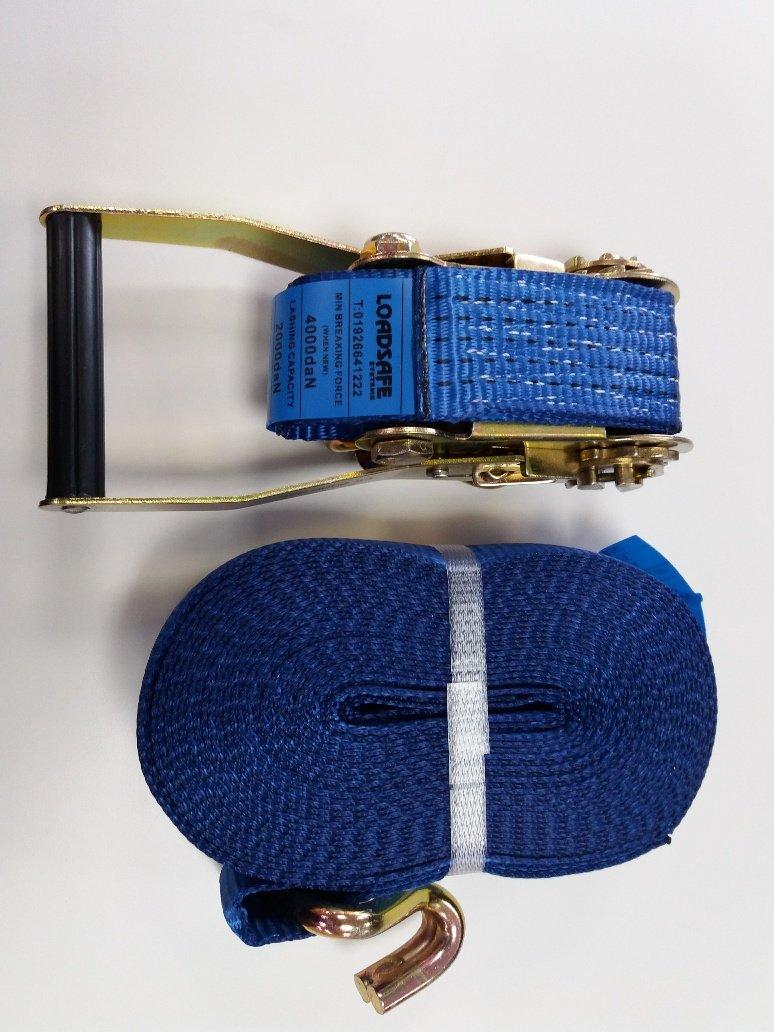 2 Loadsafe 4 Tonne Blue 50mm x 10M Ratchet Lashing Tie Down strap from /£7.35