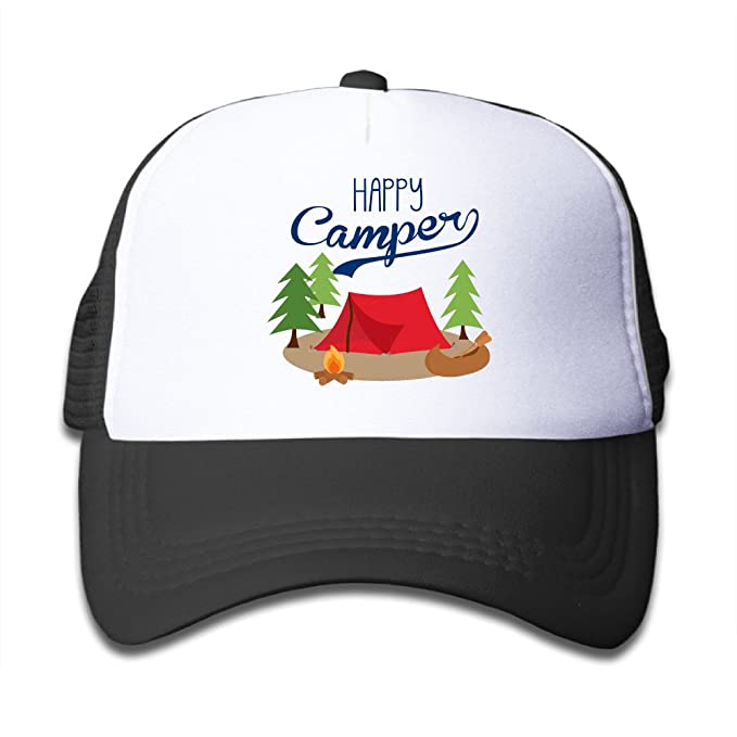 Image Unavailable. Image not available for. Colour  HAPPY CAMPER Baby  Snapback Mesh Baseball Cap ... b6647a87911f