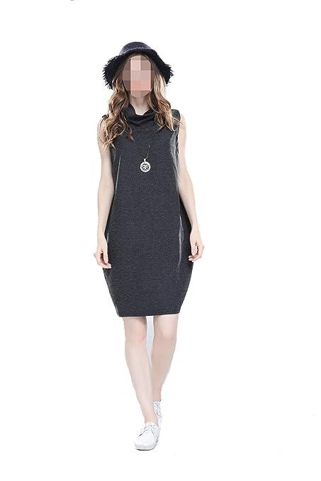 EALSN Vestido De Cuello Alto Para Mujer Falda Sin Mangas / Chaleco Fiesta Mini Falda,