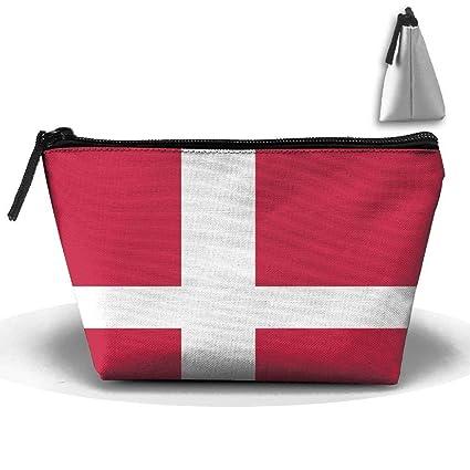 Flag Of Denmark Oxford Cloth Wash Bolsas de maquillaje Aseo ...