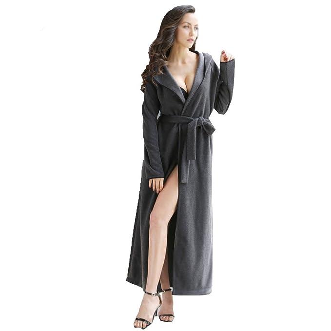 Bata Bata De Hombre Pareja Con Capucha Pijamas Pijamas De Señoras Pijamas Suaves Pijamas De Verano: Amazon.es: Ropa y accesorios