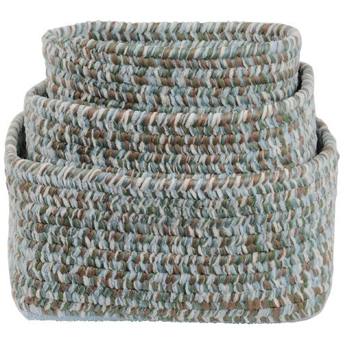 Woodland Colored Braided Chenille Soft Storage Nesting Bins Set of 3 by Constructive Playthings