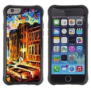 "Pulsar iFace Series Tpu silicona Carcasa Funda Case para Apple iPhone 6+ Plus(5.5 inches) , Pintura Impresionismo Casas Canal de Venecia"""