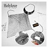Holylove Silver Summer Sexy Hot bralette Harness Necklace Beach Body Jewelry-HLBN9 Silver