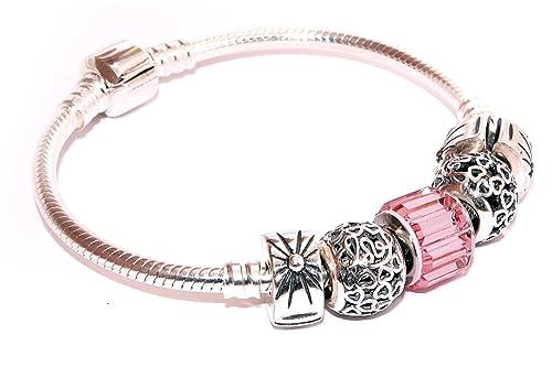 5dec32332fc1 Pulsera mujer plata compatible Pandora charms de Plata de Ley y con ...