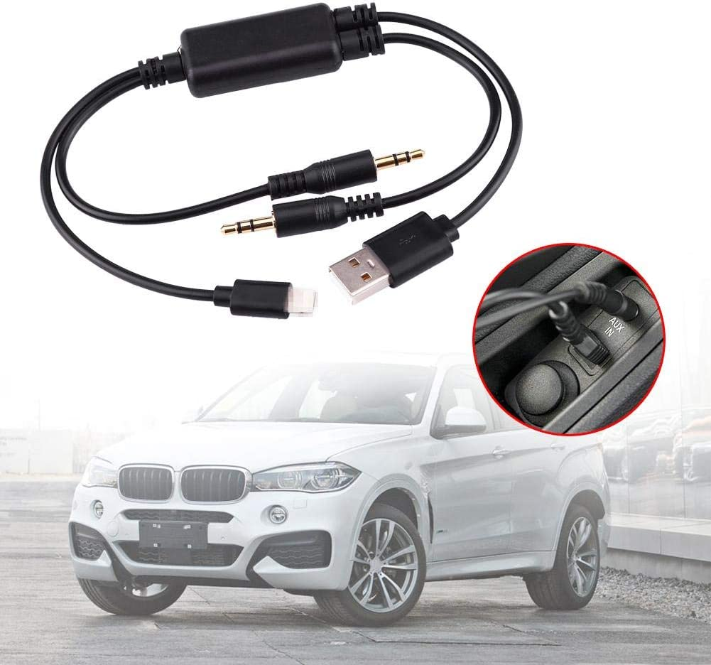 Car 3.5MM Charging Cable Car USB 3.5MM AUX Car Home Stereo and Headphone Adapter Interface Cable for BMW MINI Cooper Core For iPod Fast Data Transfer