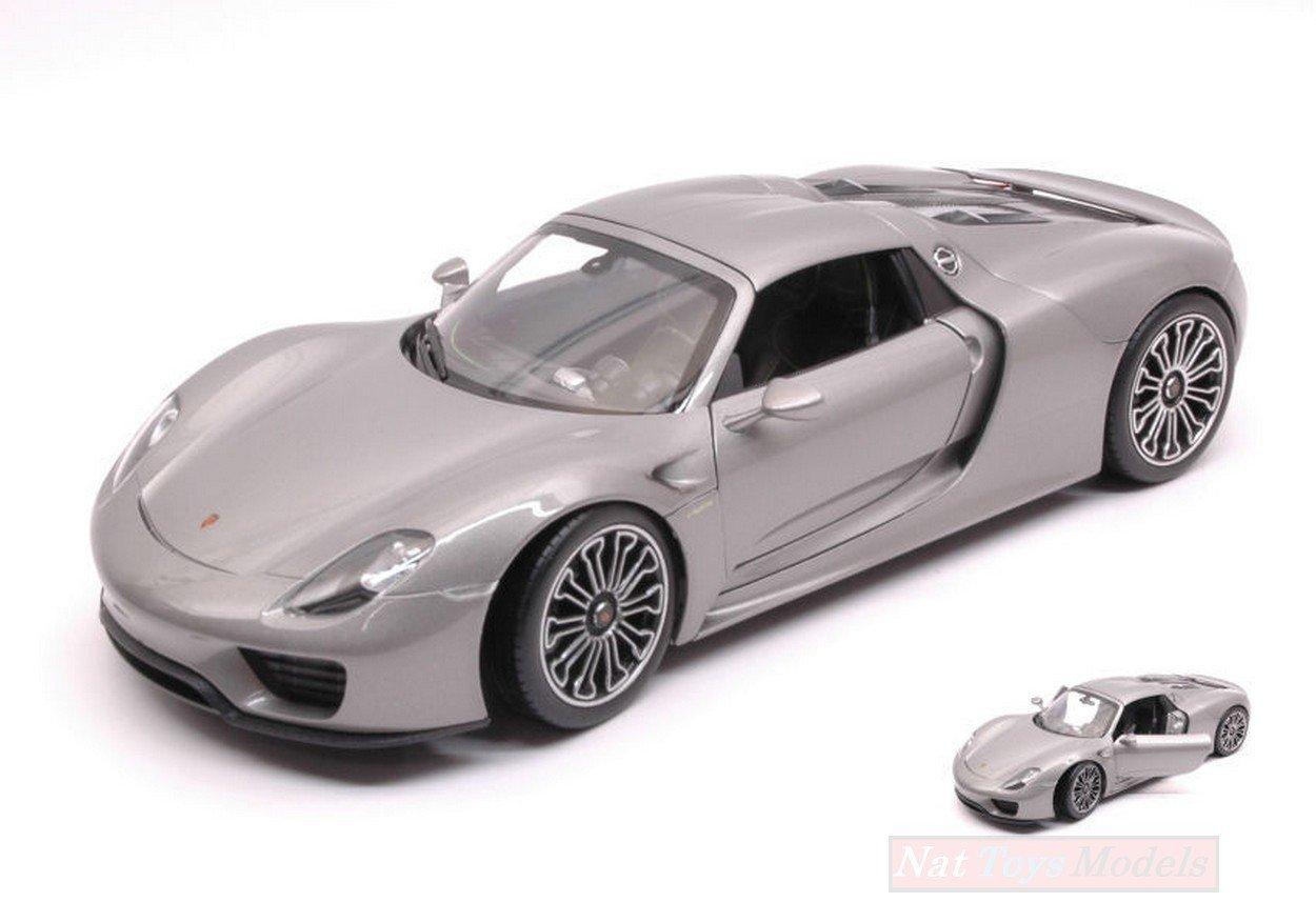 Porsche 918 Spyder Hard Top, silber, 2011, Modellauto, Fertigmodell, Welly, 1:18