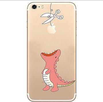 CrazyLemon Coque pour iPhone 6 Plus iPhone 6S Plus Motif mignon unique Transparent Doux Durable TPU Coque arrière de protection pour iPhone 6 Plus ...