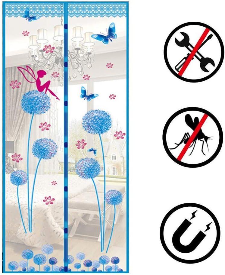 Magnética pantalla de la mosca puerta del acoplamiento, mosquitera Magnetics puertas de malla, Anti Cortinas Mantener la mosca del o del de salida para el balcón corredizas de la sala Niños habitación